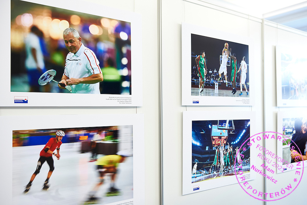 Special Olympics' photography exhibition in Polish Parliament (Sejm RP) in Warsaw, Poland.<br /> <br /> Poland, Warsaw, September 22, 2015<br /> <br /> Picture also available in RAW (NEF) or TIFF format on special request.<br /> <br /> Any editorial, commercial or promotional use requires permission.<br /> <br /> Adam Nurkiewicz declares that he has no rights to the image of people at the photographs of his authorship.<br /> <br /> Mandatory credit:<br /> Photo by &copy; Adam Nurkiewicz / Mediasport