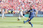 Manchester United Midfielder Juan Mata shoots and goal is off side during the Manchester United and Liverpool International Champions Cup match at the Michigan Stadium, Ann Arbor, United States on 28 July 2018.