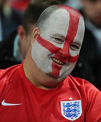 England fan with face paint  - Photo mandatory by-line: Joe Meredith/JMP - Mobile: 07966 386802 - 27/03/2015 - SPORT - Football - London - Wembley Stadium - England v Lithuania - UEFA EURO 2016 Qualifier