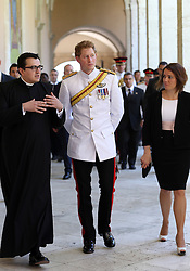 Prince Harry arriving at Monte Cassino Abbey in Italy as part of the 70th anniversary commemorations of the Battle of Monte Cassino,  Sunday, 18th May 2014. Picture by Stephen Lock / i-Images