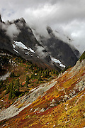 WA13486-00...WASHINGTON - Cascade Pass from the Sahale Arm trail during the fall  in North Cascades National Park.