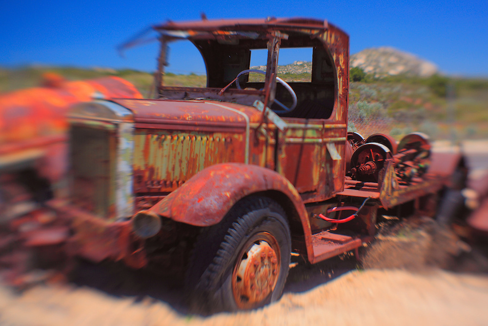 Rusted Mack Truck - Motor Transport Museum - Campo, CA - Lensbaby