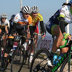 13-03-2016: Wielrennen: Acht van Dwingeloo: Dwingeloo<br />DWINGELOO (NED) wielrennen  <br />Annemiek van Vleuten, Marianne Vos, Evy Kuijpers