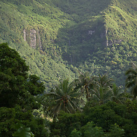Fare, Huahine, French Polynesia, Mountains