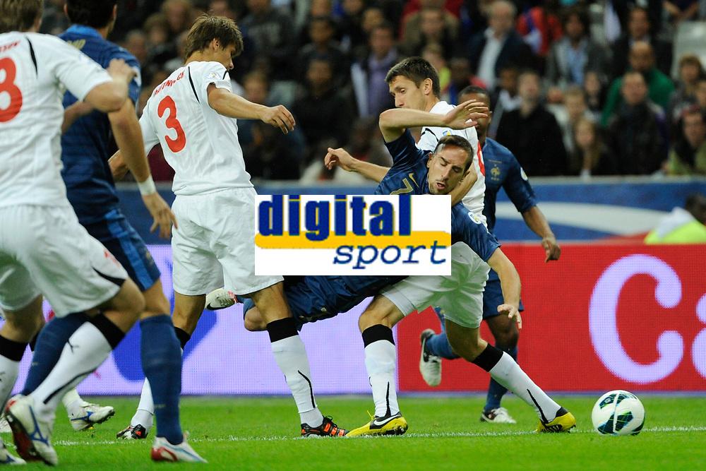 FOOTBALL - FIFA WORLD CUP 2014 - QUALIFYING - FRANCE v BIELORUSSIA - SAINT DENIS (FRANCE) - 11/09/2012 - PHOTO JEAN MARIE HERVIO / REGAMEDIA / DPPI - FRANCK RIBERY (FRA)