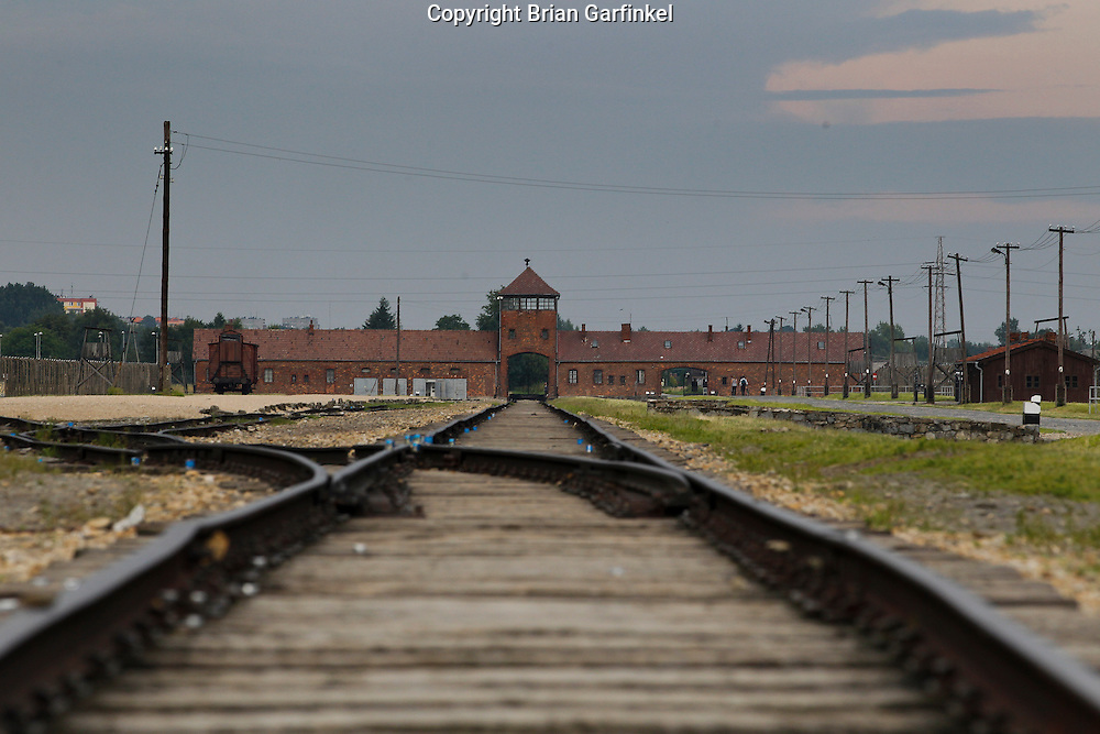 The train tracks where victims arrived at Auschwitz-Birkenau Concentration Camp in Poland on Tuesday July 5th 2011.  (Photo by Brian Garfinkel)