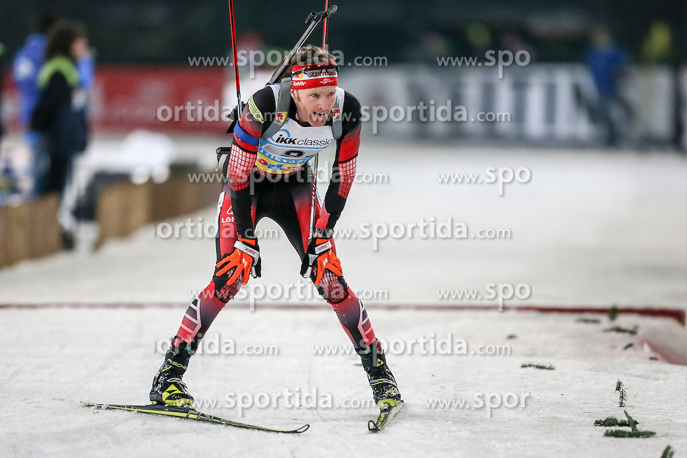 28.12.2015, Veltins Arena, Gelsenkirchen, GER, IBU Weltcup Biathlon, auf Schalke, im Bild Simon Eder (Oesterreich/AT) // during the IBU Biathlon World Cup at Veltins Arena in Gelsenkirchen, Germany on 2015/12/28. EXPA Pictures &copy; 2015, PhotoCredit: EXPA/ Eibner-Pressefoto/ Kohring<br /> <br /> *****ATTENTION - OUT of GER*****