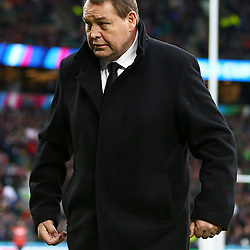 LONDON, ENGLAND - OCTOBER 24: Steve Hansen (Head Coach) of New Zealand during the Rugby World Cup Semi Final match between South Africa and New Zealand at Twickenham Stadium on October 24, 2015 in London, England. (Photo by Steve Haag/Gallo Images)