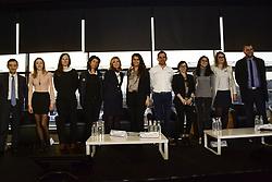 February 22, 2018 - Le Mans, FRANCE - MARLENE SCHIAPPA SECRETAIRE D'ETAT EN CHARGE DE L'EGALITE ENTRE LES FEMMES ET LES HOMMES MARIE ALVAREZ GARZON VICE-PRESIDENTE DE L'ACO .SARAH ABBADIE TEAM MANAGER PANIS BARTHEZ COMPETITION .MAUD BARBU COMMISSAIRE DE PISTE .JULIE BERTHELOT TEAM MANAGER DAMS.MARINE CHARIE MECANICIENNE DU JUNIOR TEAM (MOTO) .INES TAITTINGER PILOTE.BENOIT TRELUYER PILOTE MANAGE PAR LEENA GADE INGENIEUR EN CHEF AUDI .FARIDA ZADI TEAM MANAGER SMP RACING (Credit Image: © Panoramic via ZUMA Press)