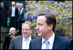 The Prime Minister David Cameron with his cabinet in the garden of No10 Downing Street , Thursday May 13, 2010. Photo By Andrew Parsons/i-Images