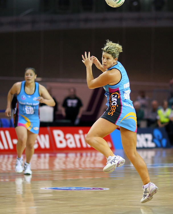 Southern Steel's Phillipa Finch against the Magic in the ANZ Netball Championships at Invercargill Velodrome, Invercargill, New Zealand, Monday, April 02, 2012. Credit:SNPA / Dianne Manson