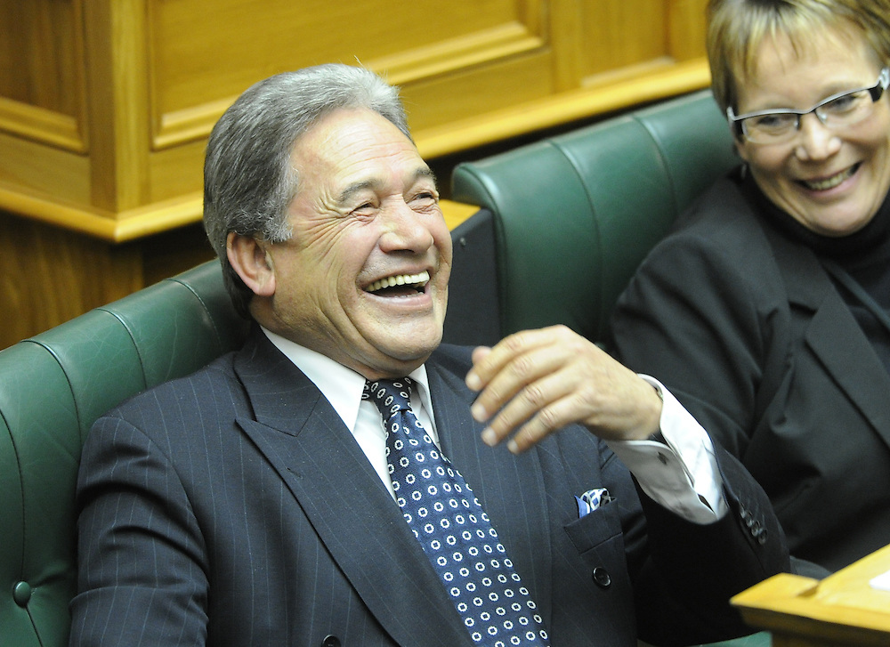 New Zealand First leader Winston Peters speaks against the third reading of the Government Asset Sales bill, Parliament Wellington, New Zealand, Tuesday, June 26, 2012. Credit:SNPA / Ross Setford