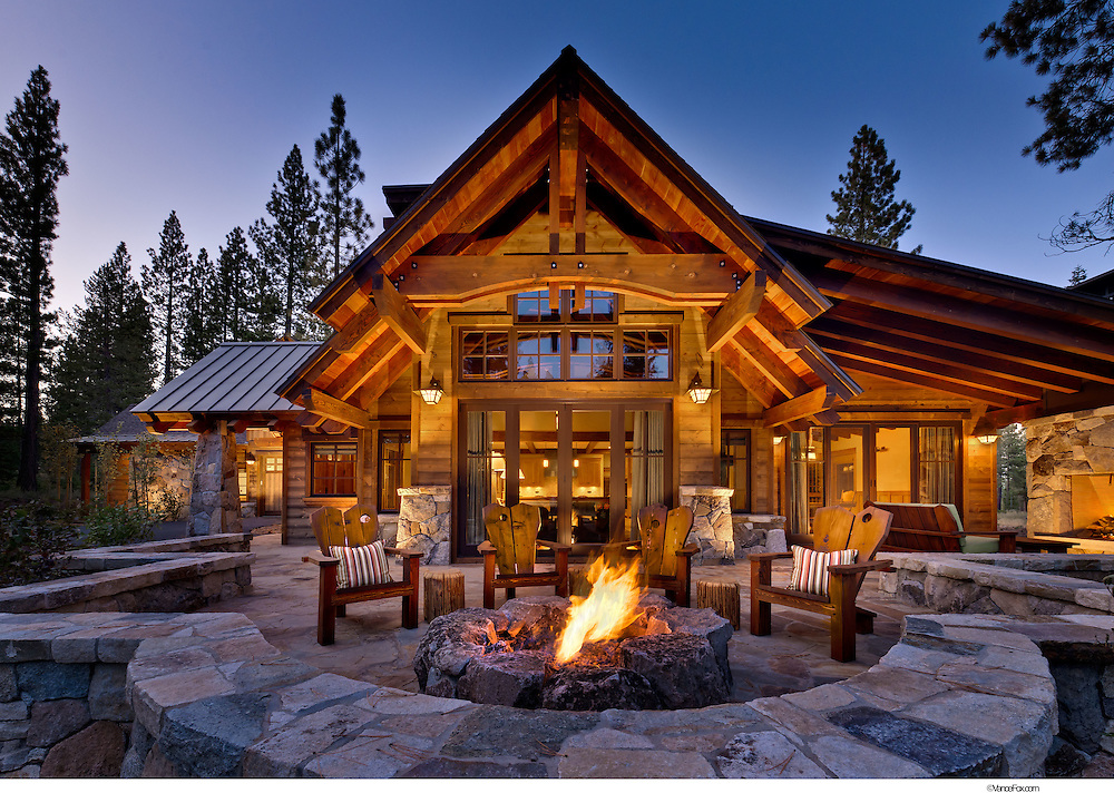 Residential Home by  Sandbox Studio, Tony Hardy Construction, Casey Hudson Design in  Martis Camp, Truckee, CA,