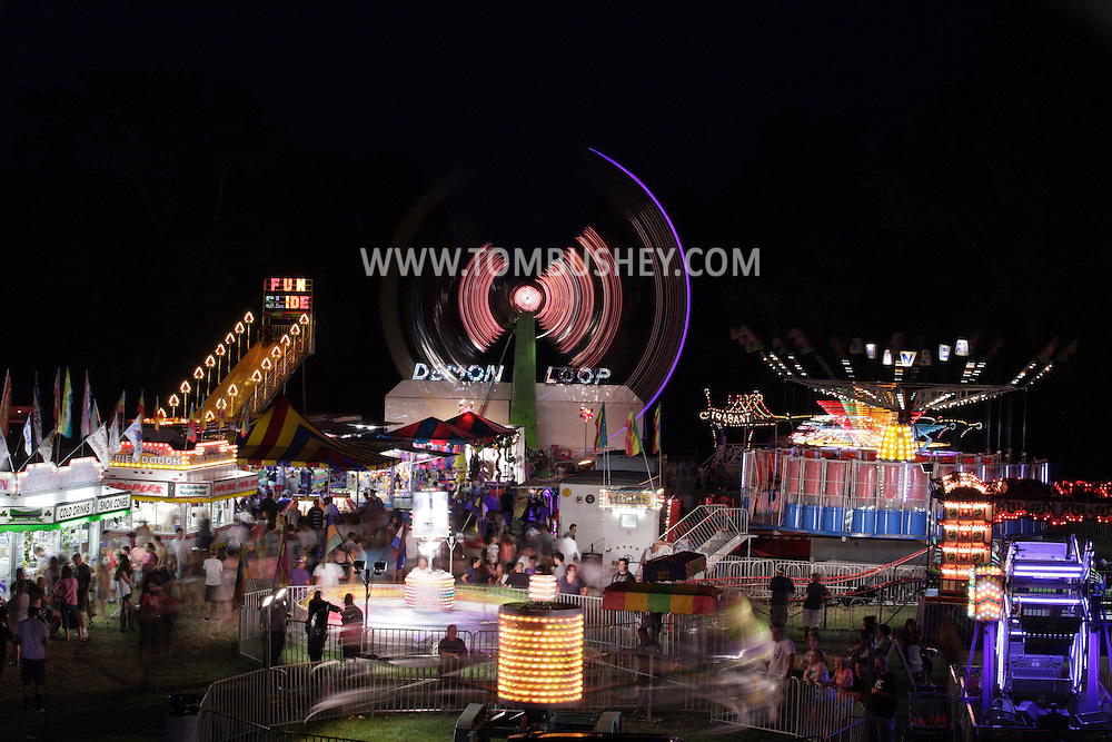 Cornwall-on-Hudson, New York - People enjoy the Storm King Fire Department fair on the night of July 23, 2011.