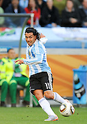 CAPE TOWN, SOUTH AFRICA- Saturday 3 July 2010, Carlos Tevez during the quarter final match between Argentina and Germany held at the Cape Town Stadium in Green Point during the 2010 FIFA World Cup..Photo by Roger Sedres/Image SA