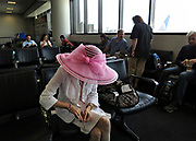 Waiting in style for the flight to Hong Kong, China; September, 2013.