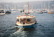 The St Mawes ferry in the harbour , Falmouth, Cornwall, England, UK