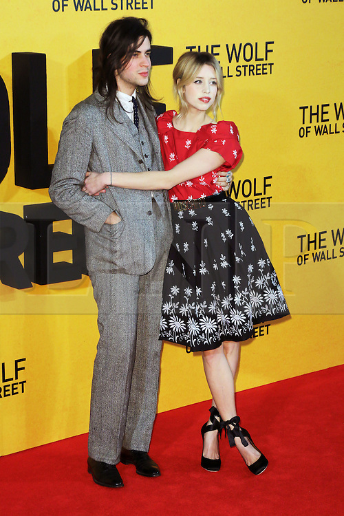 © Licensed to London News Pictures. 07/04/14 Peaches Geldof found dead at her home in Wrotham in Kent aged 25. FILE PICTURE DATED  09/01/2014, UK. Peaches Geldof, Thomas Cohen, The Wolf of Wall Street - UK film premiere, Odeon Leicester Square, London UK, 09 January 2014. Photo credit : Richard Goldschmidt/Piqtured/LNP