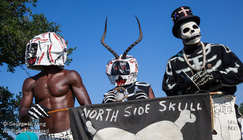 North Side Bone Gang; Super Sunday: Mardi Gras Indians gather and parade near Bayou St. John