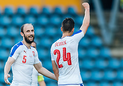 27.05.2016, Grenzlandstadion, Kufstein, AUT, Testspiel, Tschechien vs Malta, im Bild Roman Hubnik (CZE), Patrik Schick (CZE) jubelt // Roman Hubnik of Czech Republic, Patrik Schick of Czech Republic celebrate during the International Friendly Match between Czech Republic and Malta at the Grenzlandstadion in Kufstein, Austria on 2016/05/27. EXPA Pictures © 2016, PhotoCredit: EXPA/ JFK
