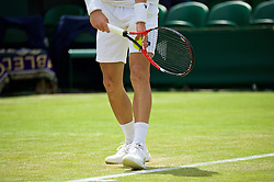 LONDON, ENGLAND - Tuesday, June 28, 2016: Aljaz Bedene (GBR) prepares to serve during the Gentlemen's Singles 1st Round match on day two of the Wimbledon Lawn Tennis Championships at the All England Lawn Tennis and Croquet Club. (Pic by Kirsten Holst/Propaganda)