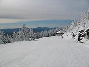 Early November skiing at the summit of Killington, VT