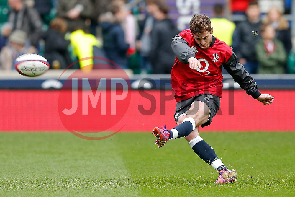 England replacement Danny Cipriani warms up - Photo mandatory by-line: Rogan Thomson/JMP - 07966 386802 - 14/02/2015 - SPORT - RUGBY UNION - London, England - Twickenham Stadium - England v Italy - 2015 RBS Six Nations Championship.