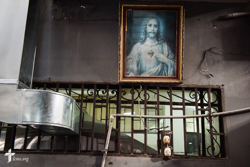 A painting representing Jesus Christ hangs near the kitchen of Castillo Fuerte on Wednesday, April 8, 2015, in La Victoria, Peru. LCMS Communications/Erik M. Lunsford