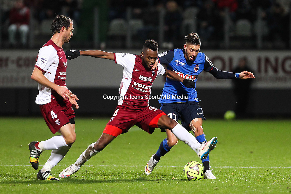 Cheick DOUKOURE / Yannick FERREIRA CARRASCO - 20.12.2014 - Metz / Monaco - 17eme journee de Ligue 1 -<br />