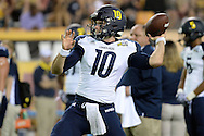 TEMPE, AZ - SEPTEMBER 03:  Quarterback Blake Kemp #10 of the Northern Arizona Lumberjacks throws the football during warm ups prior to the game against the Arizona State Sun Devils at Sun Devil Stadium on September 3, 2016 in Tempe, Arizona. The Sun Devils won 44-13.  (Photo by Jennifer Stewart/Getty Images)