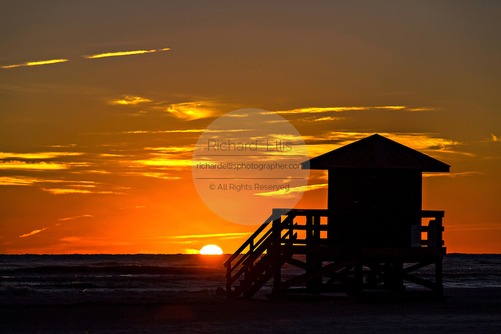 Sunset over Siesta Key beach in Sarasota, Florida