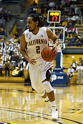 Jan 14, 2012; Berkeley CA, USA;  California Golden Bears guard Jorge Gutierrez (2) dribbles the ball against the Utah Utes during the second half at Haas Pavilion. California defeated Utah 81-45. Mandatory Credit: Jason O. Watson-US PRESSWIRE