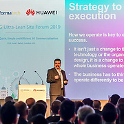 Speaker Dr Erol Hepsaydir at 5G World at Excel London, on 11 June 2019, UK.