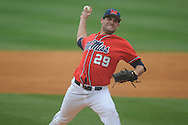 Ole Miss' Sam Smith (29) pitches  vs. Lipscomb at Oxford-University Stadium in Oxford, Miss. on Sunday, March 10, 2013. Ole Miss won 9-8. The Rebels improve to 16-1.