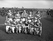 19/03/1959<br /> 03/19/1959<br /> 19 March 1959<br /> Soccer: Limerick v Drumcondra at Dalymount Park, Dublin. F.A.I. Cup game replay. The Limerick team.