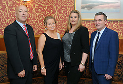 Pictured at the Westport GAA Club dinner dance at Hotel Westport were Charlie Lambert, Rosemary Smith with Shirley and Brendan Mulroy<br /> Pic Conor McKeown