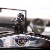 A representation of the Egyptian god Ra gracing the radiator of mid 1920-1930s model Stutz Bearcat.