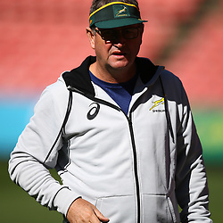 Swys de Bruin (consultant) and Emirates Lions head coach during the South African - Springbok Captain's Run at Emirates Airline Park,<br /> Johannesburg .South Africa. 08,06,2018 Photo by (Steve Haag Sports)