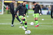 Forest Green Rovers Dominic Bernard(3) warming up during the EFL Sky Bet League 2 match between Forest Green Rovers and Plymouth Argyle at the New Lawn, Forest Green, United Kingdom on 16 November 2019.