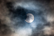 10.23 March 2015 Solar eclipse, partial eclipse of the sun, rare natural phenomenon seen from Burford, The Cotswolds, England UK