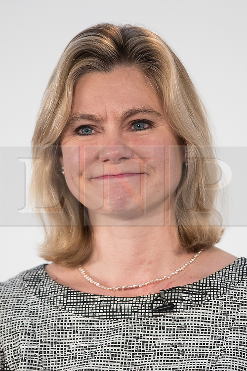 © Licensed to London News Pictures . 17/03/2017 . Cardiff , UK. JUSTINE GREENING speaks at the Conservative Party Spring Conference at the SSE SWALEC Stadium in Cardiff . Photo credit: Joel Goodman/LNP