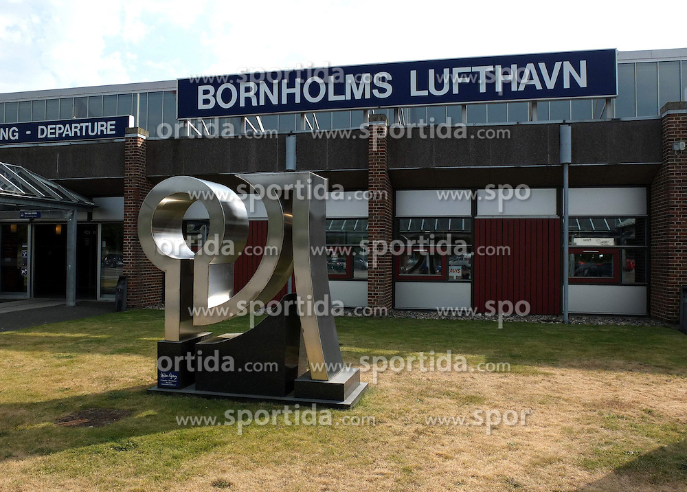 THEMENBILD - Ronne ist mit 13.730 Einwohnern die groe&szlig;te Stadt auf der d&auml;nischen Insel Bornholm und Sitz von deren Amts- und Gemeindeverwaltung. Hier im Bild lotnisko bornholm airport aufgenommen am 4. August 2013 // THEMES IMAGES - Ronne is the largest town on the Danish island of Bornholm and the seat of the administrative and local government. The city has 13.730 inhabitants. Pictured in Ronne, Denmark on 2013/08/04. EXPA Pictures &copy; 2013, PhotoCredit: EXPA/ Newspix/ Michal Fludra<br /> <br /> ***** ATTENTION - for AUT, SLO, CRO, SRB, BIH, TUR, SUI and SWE only *****