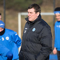 St Johnstone Training....05.02.15<br /> Manager Tommy Wright pictured training at McDiarmid Park this morning ahead of Saturday's Scottish Cup tie at Queen of the South.<br /> Picture by Graeme Hart.<br /> Copyright Perthshire Picture Agency<br /> Tel: 01738 623350  Mobile: 07990 594431