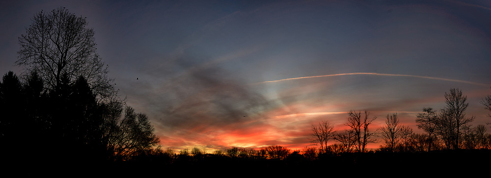 Colorful Clouds at Dawn. Composite of seven images taken with a Leica TL camera and 11-23 mm lens (ISO 100, 23 mm, f/4.5, 1/250 sec). Raw images processed with Capture One Pro and the composite generated with AutoPano Giga Pro.
