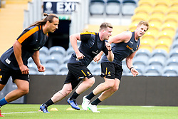 GJ van Velze, Niall Annett and Anton Bresler of Worcester Warriors during preseason training ahead of the 2019/20 Gallagher Premiership Rugby season - Mandatory by-line: Robbie Stephenson/JMP - 06/08/2019 - RUGBY - Sixways Stadium - Worcester, England - Worcester Warriors Preseason Training 2019