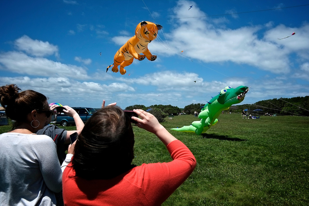 Alligator kite flying, Fort Adams State Park. Newport, RI