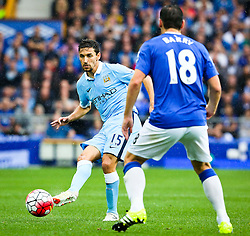 Jesus Navas of Manchester City in action - Mandatory byline: Matt McNulty/JMP - 07966386802 - 23/08/2015 - FOOTBALL - Goodison Park -Everton,England - Everton v Manchester City - Barclays Premier League