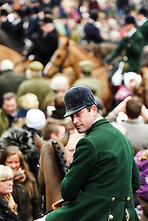 © Licensed to London News Pictures. 26/12/2014. Charles Frmapton - Senior Master of the Heythrop Hunt on Boxing Day in Chipping Norton Oxfordshire. Photo credit : MARK HEMSWORTH/LNP