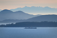 Samish Bay seen from viewpoint along Chuckanut Drive, Bellingahm Washington
