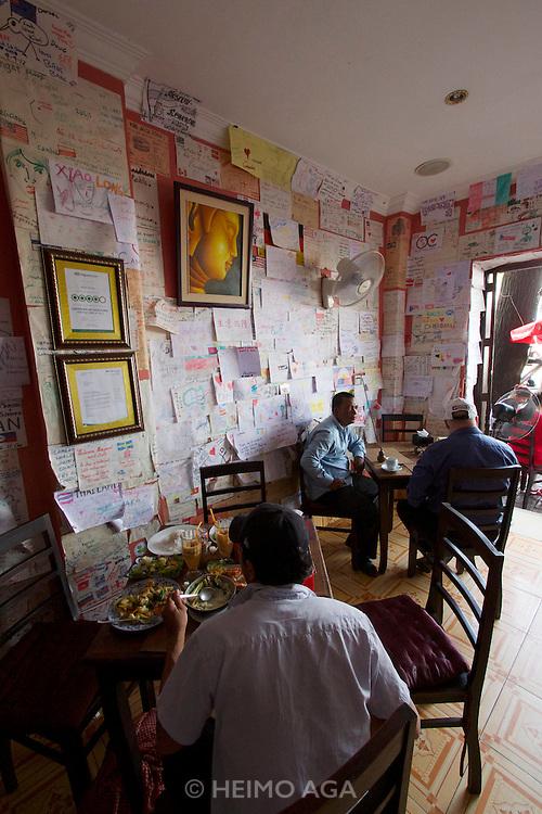 Phnom Penh, Cambodia. Khmer Saravan Restaurant with traditional Cambodian cuisine.